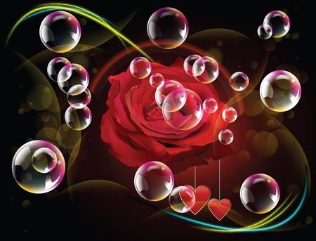 Saint Valentines day card. Illustration art illustration
