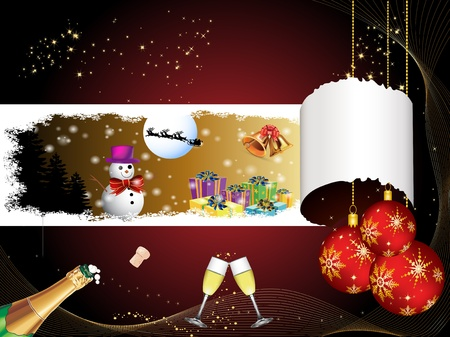 Merry Christmas and happy new year Stock Photo - 9689291