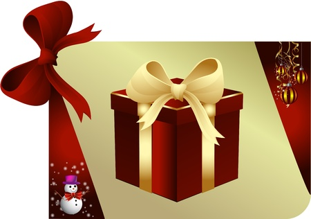 Merry Christmas and happy new year. Illustrated card Stock Photo - 9836476