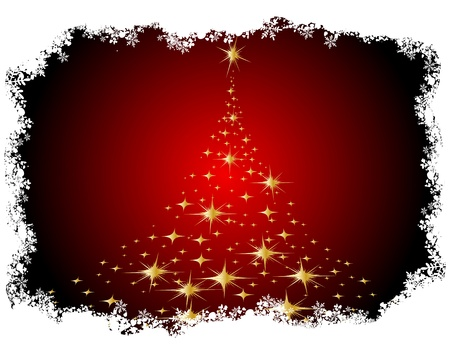 Frohe Weihnachten und gl�ckliches neues Jahr. Illustrierte Karte