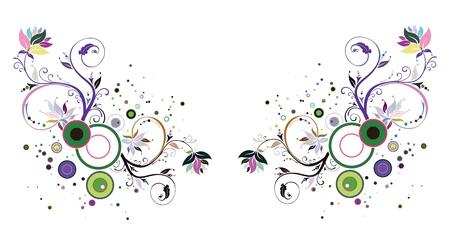 floreal: Spring and summer background. Abstract colors flowers illustration