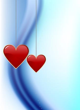 saint valentines: San Valentino illustrazione della carta Archivio Fotografico
