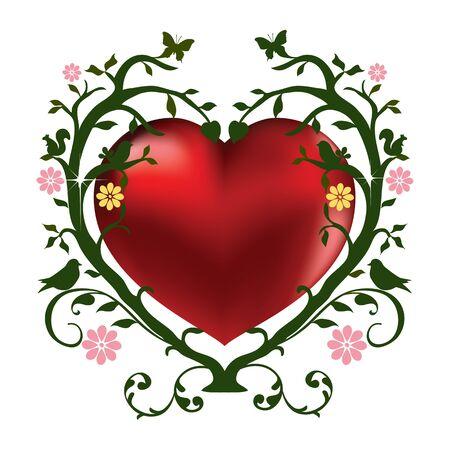 valentineday: Saint ValentineDay illustration card Stock Photo