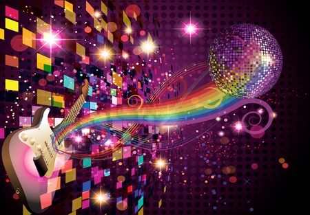 Music on colorfull background