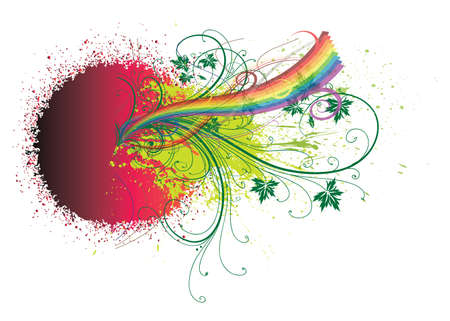 Rainbow and abstract background Stock Photo - 11595232