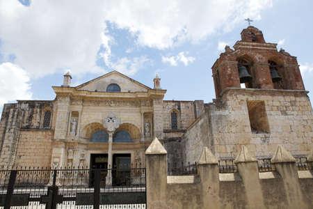 santo domingo: The Cathedral of Santo Domingo de Guzman, the capital of the Dominican Republic