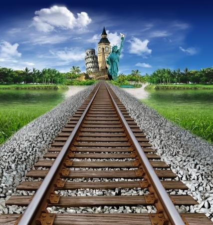 Tourismus rund um die Welt: Gehen Sie auf Denkm�ler und Wahrzeichen von Zug zu sehen Lizenzfreie Bilder