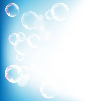 Abstract gradient blue background with bubble and light Vector