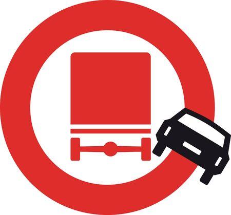 traffic signal: Incroyable camion de signalisation routi�re et automobile Illustration