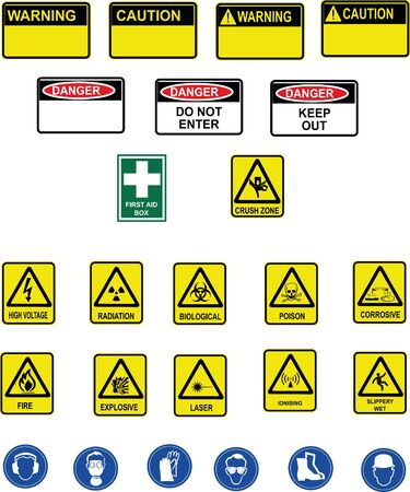 corrosive: Different warning panels