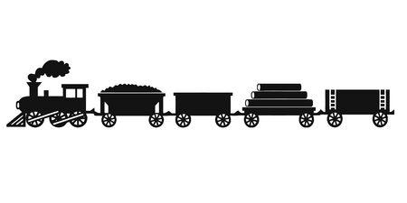 Tren de juguete antiguo en el fondo aislado Ilustración de vector