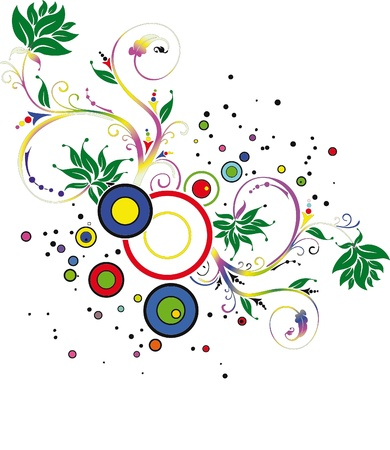 floreal: Artistic floreal background