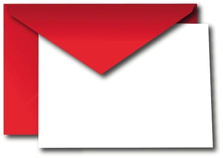 Rode envelop met papieren