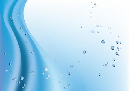 Blue Gradient Hintergrund mit Wellen und Blasen