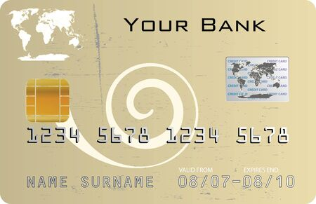Credit card elabiorated background Vector