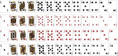 Karten f�r das Spiel und Poker