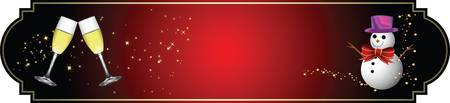 happy new year banner: Merry Christmaa and happy new year banner