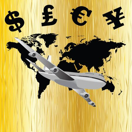 Global economy illustration Stock Vector - 14714345