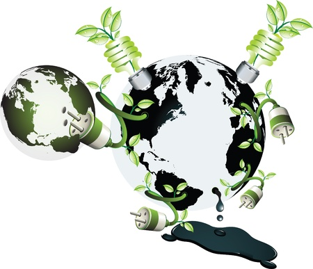 A new wold with green power and different use of the energy Stock Vector - 14706419