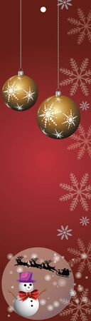 happy new year banner: Merry Christmas and happy new year banner and decoration Illustration