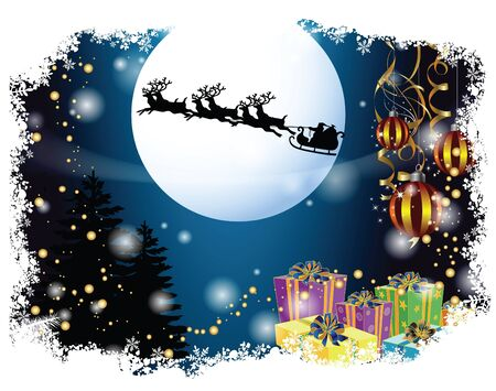 celebartion: Merry Christmas and happy new year background and decoration