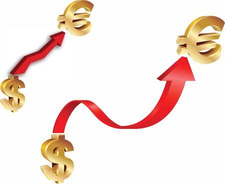 Dollar and euro symbol Stock Vector - 14880977