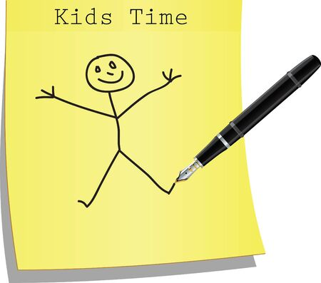 Kids time background Stock Vector - 14880925