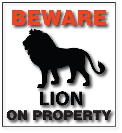 beware: Beware lion on property panel