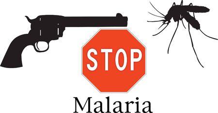 malaria: Stop malaria symbols Illustration
