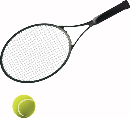 Tennis racket and ball Stock Vector - 15519189