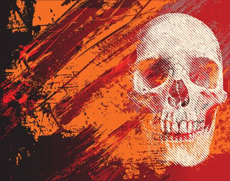 skull on the abstract background