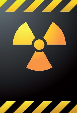 Nucklear power warning signal Stock Vector - 16313557