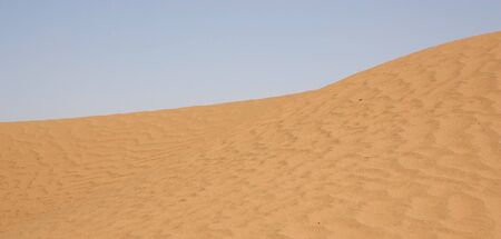 Desert landscape  dune sand pattern photo