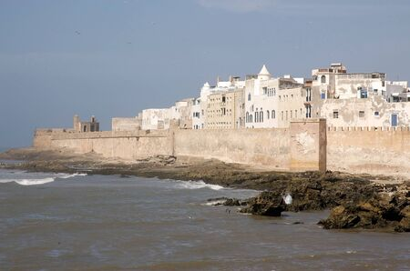 fortified: Morocco, Essaouira fortified city on the Atlantic coast Stock Photo