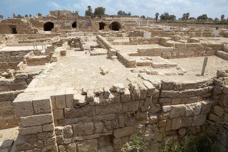caesarea: Caesarea ruins at the Caesarea National Park, Israel