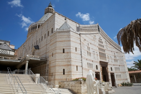 Nazareth Cathedral at the Nazareth town, Israel