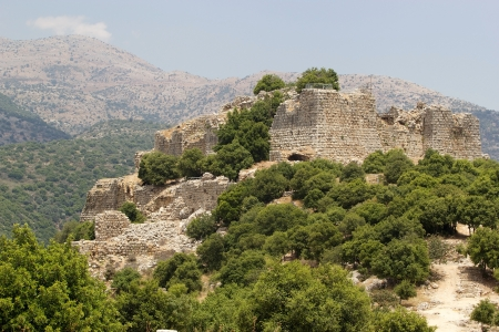 Nimrod fortress, the Keep, on the slope of mount Hermon, Israel photo