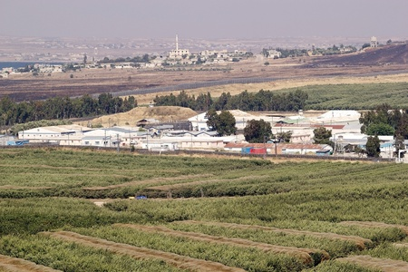 Israel and Syria border in the Golan photo
