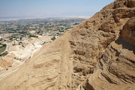 Jericho cityscape from the moun of the Temptation, Jericho, Palestine, Israel Imagens