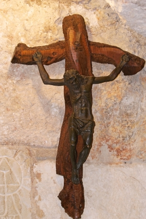 The Christian cross inside the church  photo