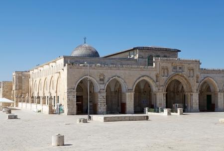 엘 Aqsa 모스크 템플 마운트, 예루살렘, 이스라엘에서 스톡 콘텐츠