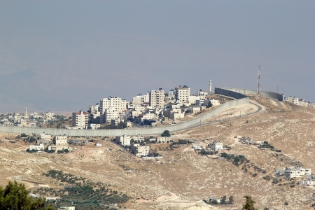 Israeli West Bank barrier near Bethlehem, Israel