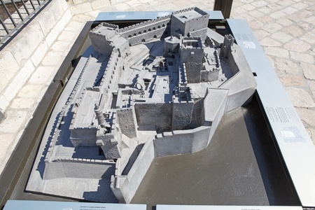 Davis s Citadel relief model at the museum in the David s Citadel, Jerusalem, Israel