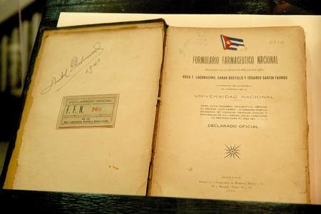 formulation: Old cuban pharmaceutical formulation book printed for the Havana University in the 1924, Havana, Cuba
