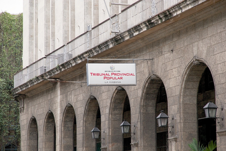 tribunal: The indication of the place where is located the tribunal at the Havana Editorial