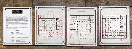 Palacio de los Capitanes Generales, now the Havana City Museum, map at the Old Havana, Cuba