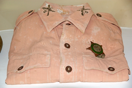 Cuban police shirt displayed at the  Museo Giron had on by the police man during the   Bay of Pigs invasion Publikacyjne