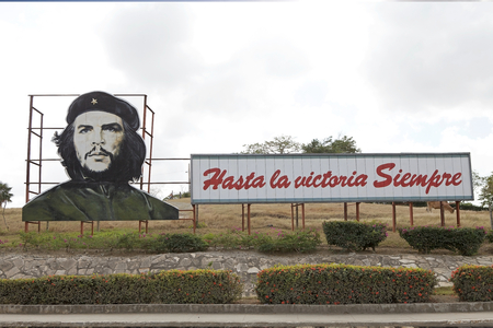Cuban propaganda along the street from Camaguey to Bayamo, Cuba Editorial