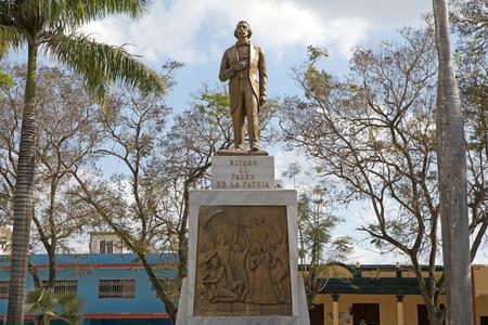 Statue of Carlos Manuel de Cespedes at the Cespedes Park at the Bayamo, Cuba