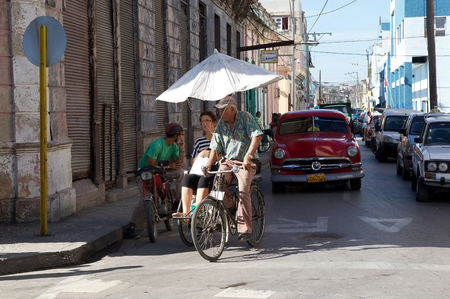 traditon: Traditional transport along the street in Moron, Cuba